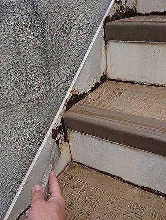 階段鉄骨塗装・シーリング工事施工前