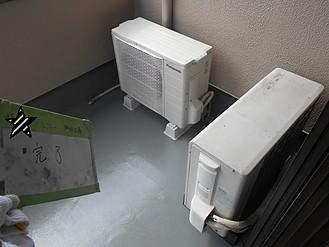神戸市戸建てベランダ防水工事施工完了
